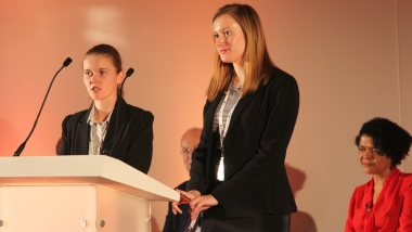 Nicole Covey RITTech and Emma Pople RITTech from IBM at the official launch of the professional register of IT technicians at the Tate Modern in October 2015