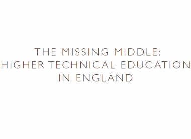 Latest Gatsby report shows that England is distinctive in its lack of higher technical education