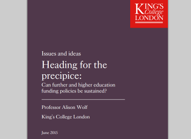 Heading for the precipice: can further and higher education funding policies be sustained?